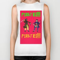 pirates Biker Tanks featuring Pirates!!! by Michael Keene