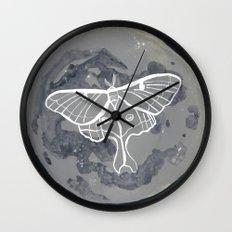 La Luna constellations & moon watercolor Wall Clock
