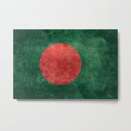 Bangladeshi Flag in retro grunge Metal Print