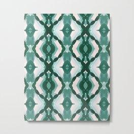 Watercolor Green Tile 1 Metal Print