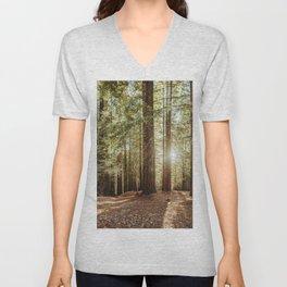 Redwood forest Unisex V-Neck
