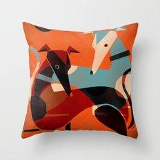GREYHOUND PAIR Throw Pillow