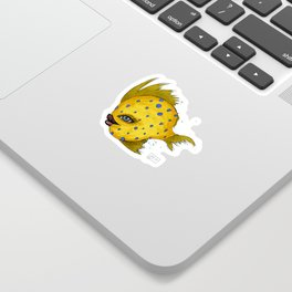Yellow Swim Sticker