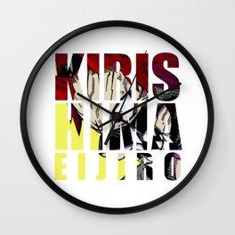Kirishima in Impact Wall Clock