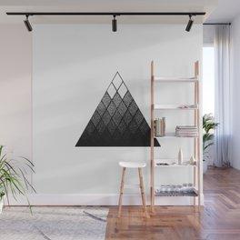 Geometric Snowy Mountain Wall Mural