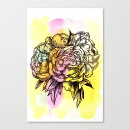 Plant Series: Peony Canvas Print
