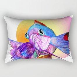 Sad fishy Rectangular Pillow