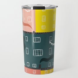 Rainbow city party Travel Mug
