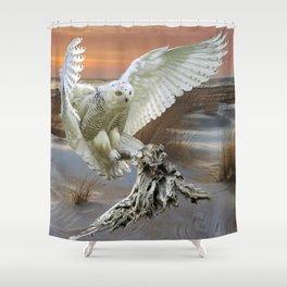 Snowy Owl Shower Curtain