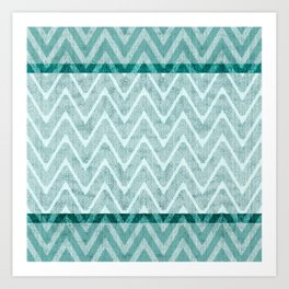Teal Green and Nappy Imitation Terry Towel Art Print