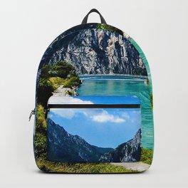 Lake Garda summer mountains Italy Europe Backpack