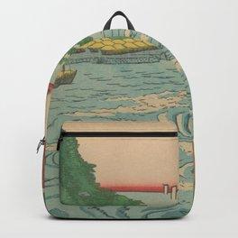 Sea. Ukiyoe Landscape Backpack