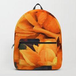 Spectacular Orange Silk Floral With Yellow Accents Backpack
