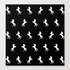 Black And White Unicorns Canvas Print