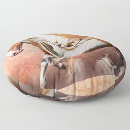 Flying Feathers Floor Pillow