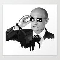 putin Art Prints featuring Putin by Valentina