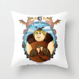 Fishlegs Ingerman- Dragon Geek Throw Pillow