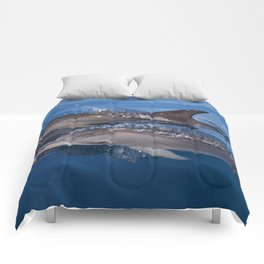 Beautiful Spotted dolphins Stenella frontalis Comforters