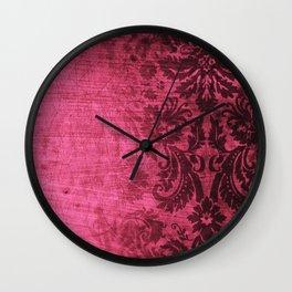Pink damask Wall Clock