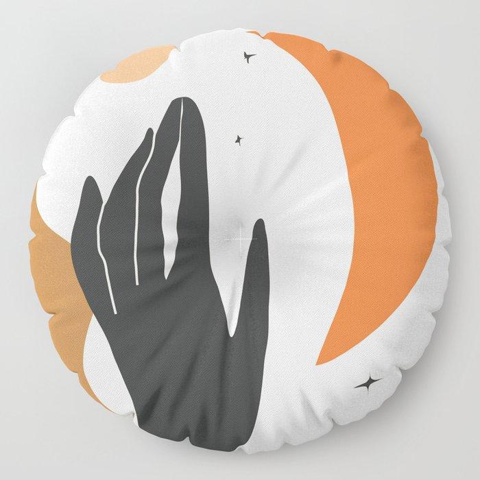 Abstract Art Hand Floor Pillow