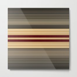 Rich Gold Burgundy Stripes Metal Print