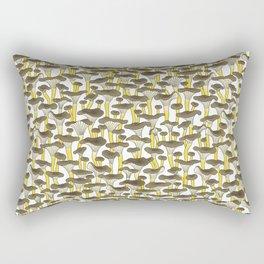 Yellow Foot Mushrooms Rectangular Pillow