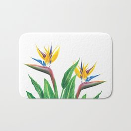 Birds of paradise flowers Bath Mat