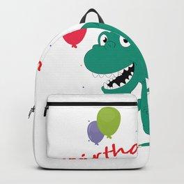 Boy Dinosaur Birthday T-Rex For Boys Backpack