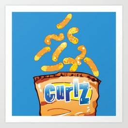 Cheese Curls : Junkies Collection Art Print