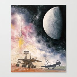 Space Exploration Canvas Print