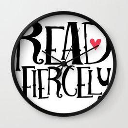 Read Fiercely Wall Clock