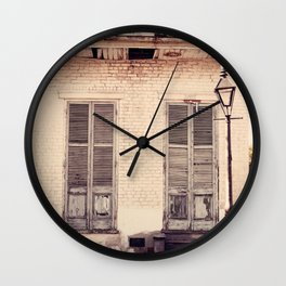 Old Shutters Wall Clock