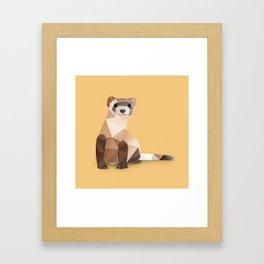 Ferret. Framed Art Print