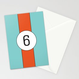 racing stripe .. #6 Stationery Cards