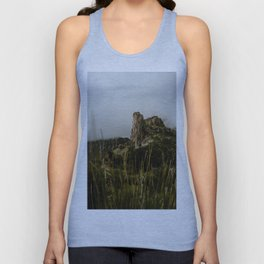 Foggy Mountaintop at Lost Mine Trail, Big Bend Unisex Tank Top