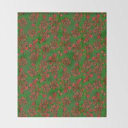 Ladybug in green Throw Blanket
