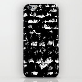 Black pattern#1 iPhone Skin