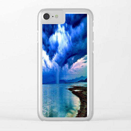 Majestic Rain Clear iPhone Case