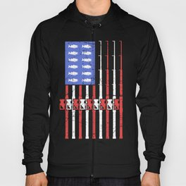 Bass Fishing American Flag Hoody