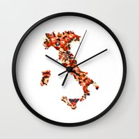 italy Wall Clocks featuring Italy by In Full Color