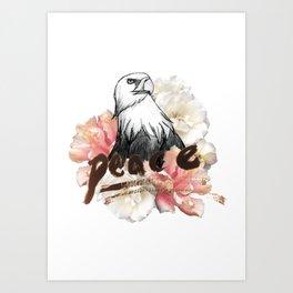 Peace Wreath Art Print