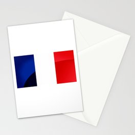 France Flag Circle Stationery Cards
