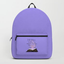 Reading Is Magical, Quote Backpack