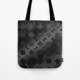 Pattern of squares and diamonds in black gradient Tote Bag