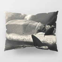 Sleeping with Sharks Black and White Pillow Sham