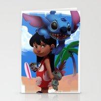lilo and stitch Stationery Cards featuring Lilo & Stitch by Archiri Usagi