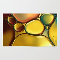 oil Area & Throw Rugs featuring Oil & Water Abstract II by Sharon Johnstone