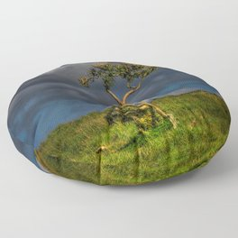 Survive I Will - Lone Gorse on Windswept Moors Floor Pillow