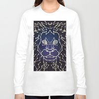constellation Long Sleeve T-shirts featuring Lion Constellation by Domz Agsaway ( dragonhands )