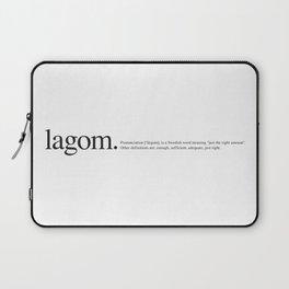 Lagom -Wiki Laptop Sleeve